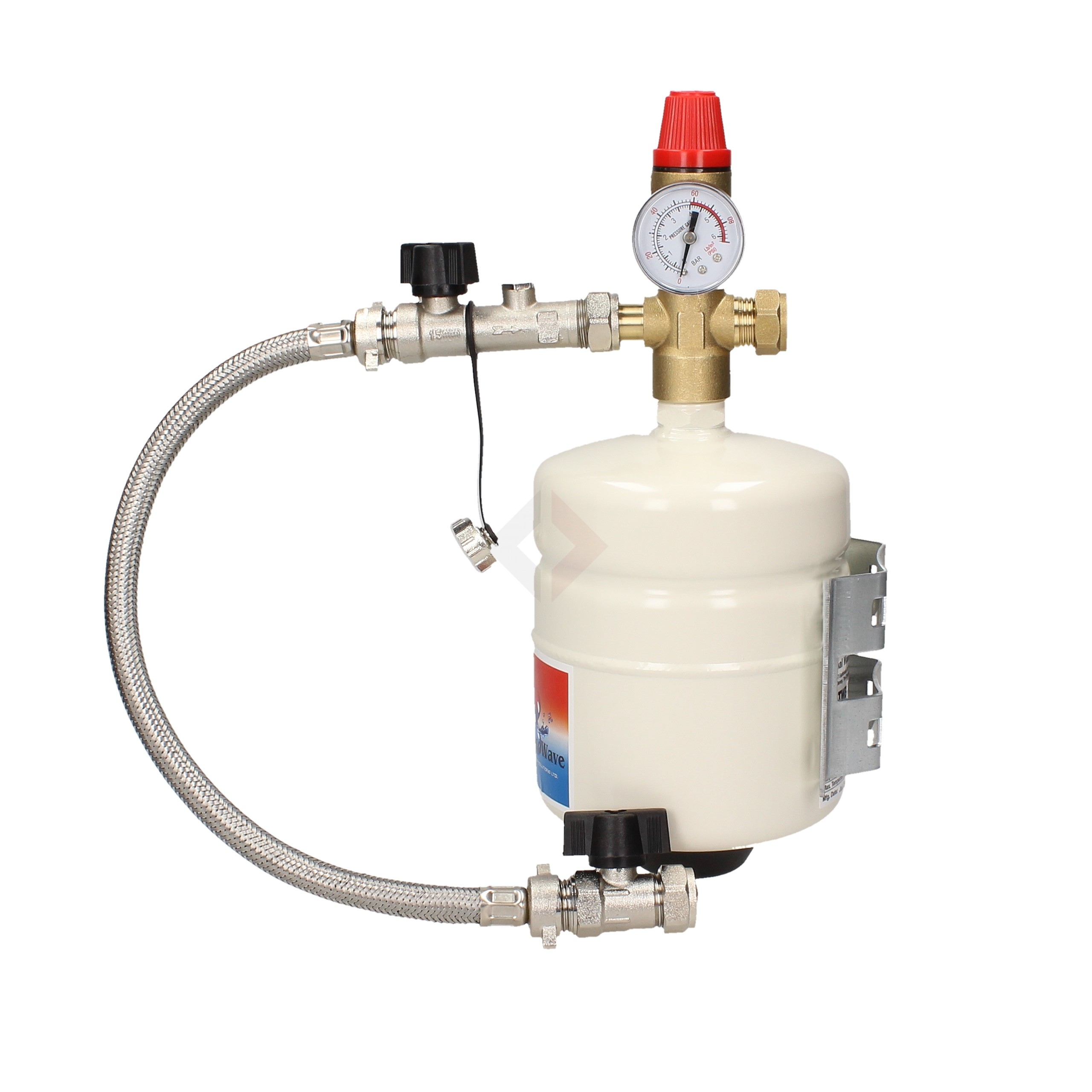 """ThermoWave 2L Multifunction Expansion Vessel (3/4"""") c/w Fixing Bracket & Sealed System Kit"""